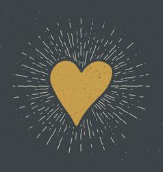 Heart symbol hand drawn sketch doodle vintage vector