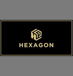 hp hexagon logo design inspiration vector image