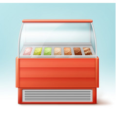 Ice cream fridge vector