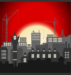 industrial european vintage styled city under vector image