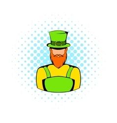 Irish leprechaun icon comics style vector