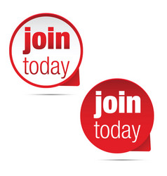 join today label sign vector image