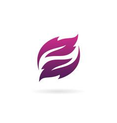 letter z leaf logo design concept template vector image