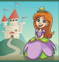 Little princess background 2 vector