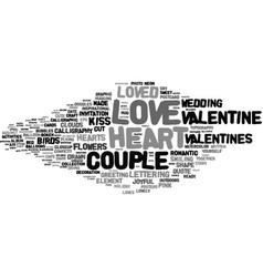 loved word cloud concept vector image