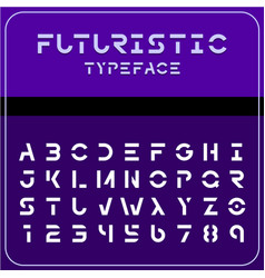 modern futuristic sci-fi font future space text vector image