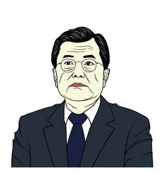 moon jae-in president of south korea portrait vector image