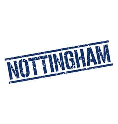 Nottingham blue square stamp vector