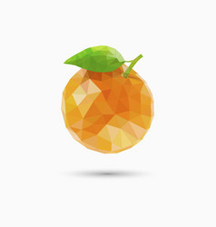 Orange fruit in polygonal style vector