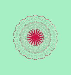 pattern round vector image