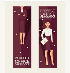 perfect office dresscode set of banners vector image