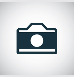photo camera icon for web and ui on white vector image
