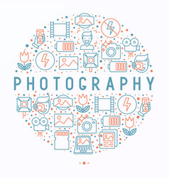 photography concept in circle vector image