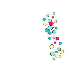 Pop art background with comic polka dot confetti vector