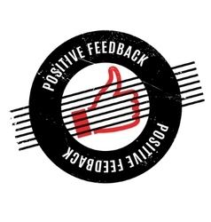 Positive feedback rubber stamp vector