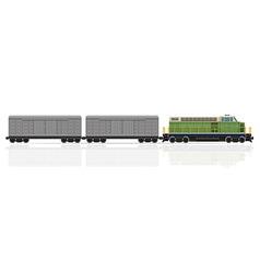 Railway train 25 vector