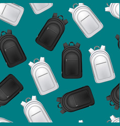 realistic detailed 3d white and black blank school vector image