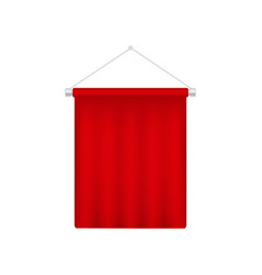 realistic pennant template red blank 3d flag vector image
