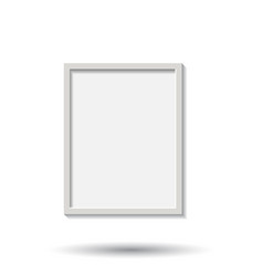 realistic photo frame isolated on white vector image