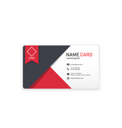 Red black abstract creative business name card vec vector