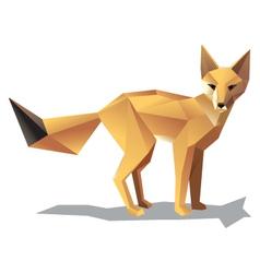 satnding fox vector image