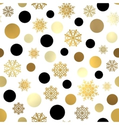 Seamless Christmas pattern New Year wallpaper vector image