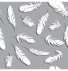 Seamless Feather Pattern background vector image