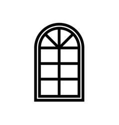 semicircular window icon vector image