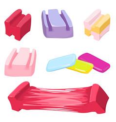 set colorful bubble gum candies vector image