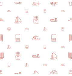 ship icons pattern seamless white background vector image