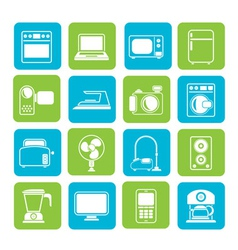 Silhouette household appliances and electronics vector