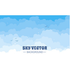 sky with clouds on a sunny day vector image