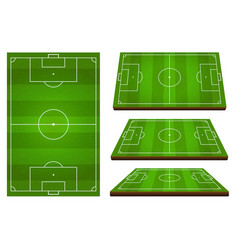 soccer european football field set vector image