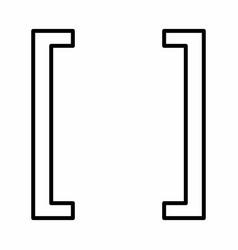 Square bracket icon vector