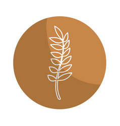 Sticker healthy wheat organ plant nutricious vector