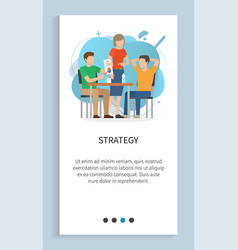 strategy working people in office website vector image