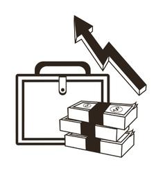 Suitcase money financial sketch design vector