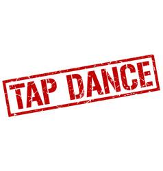 Tap dance stamp vector