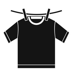 Tshirt dry icon simple style vector