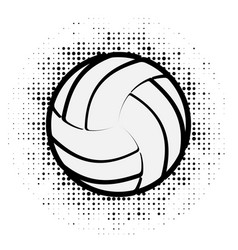 Volleyball black outline vector