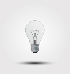 with the light bulb on a gray background vector image vector image