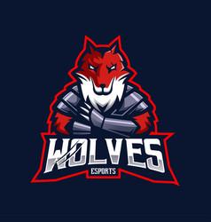Wolves mascot logo design with modern vector