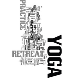 Yoga retreat text word cloud concept vector