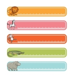 Baby banners with wild animals vector image vector image