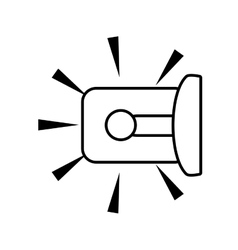 Outline warning alarm alert security vector