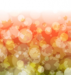 autumn forest bokeh background vector image