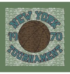 basketball sport t-shirt vector image