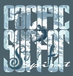 pacific surfer spirit vector image