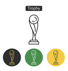 trophy icon isolated on white background vector image vector image