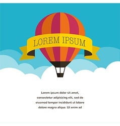 Air balloon sun and banner background vector image vector image